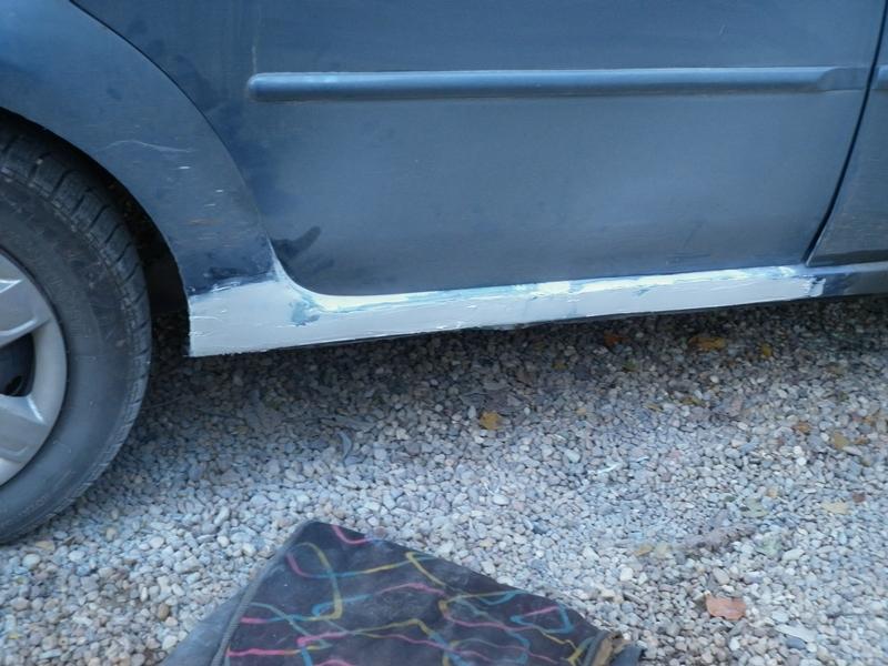Dacia Logan. Reparatie prag 2