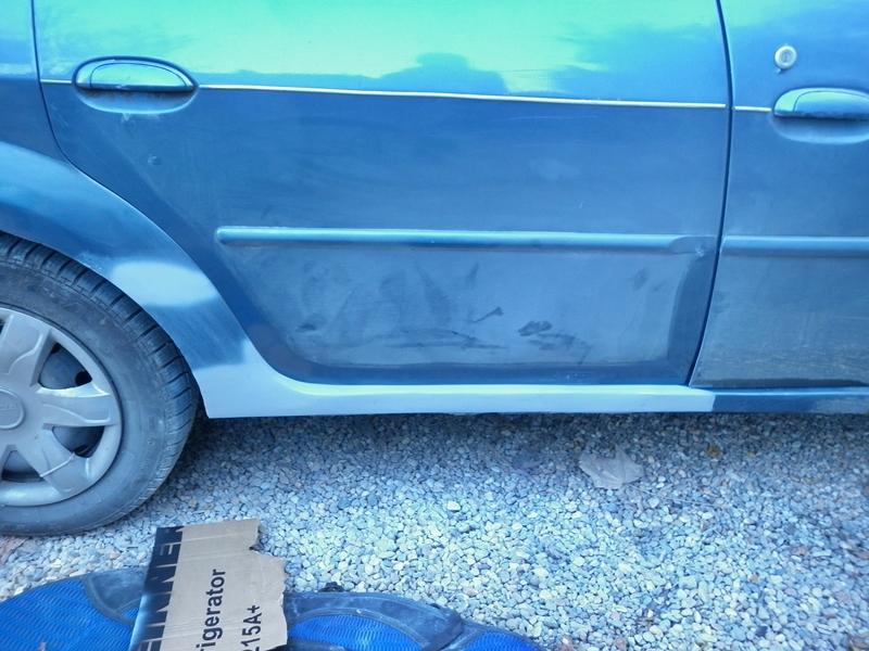 Dacia Logan. Reparatie prag 5
