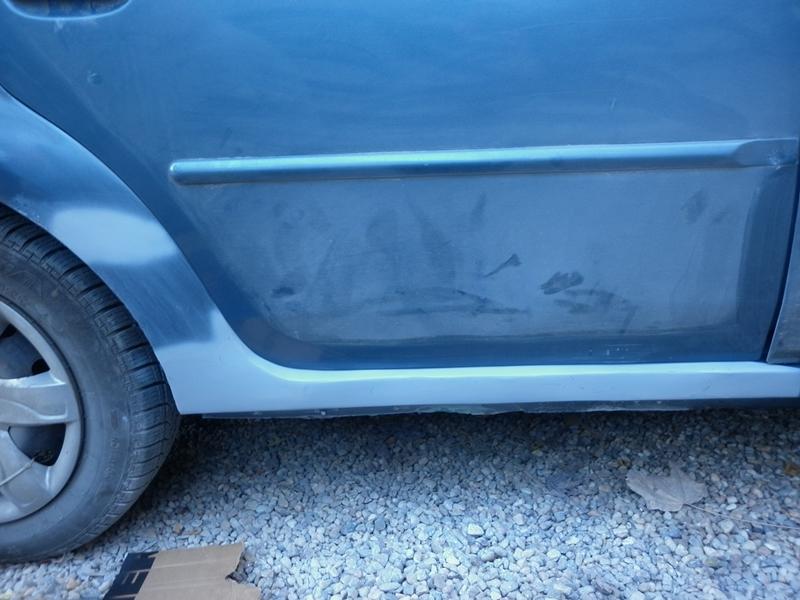 Dacia Logan. Reparatie prag 6