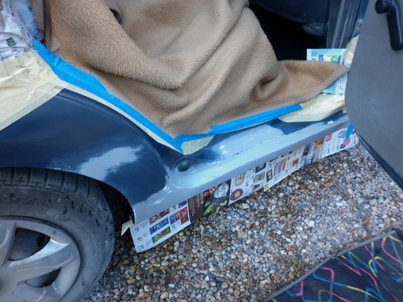 Dacia Logan. Reparatie prag 7