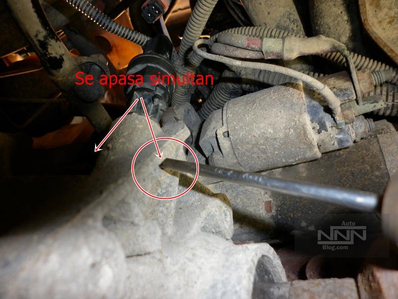 cum se schimba captorul (senzorul) de viteza la Dacia Logan I 1,4 MPI 06