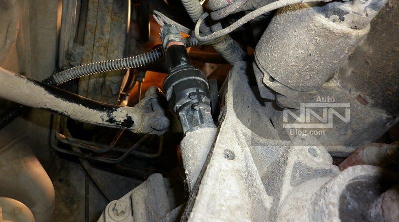 cum se schimba captorul (senzorul) de viteza la Dacia Logan I 1,4 MPI
