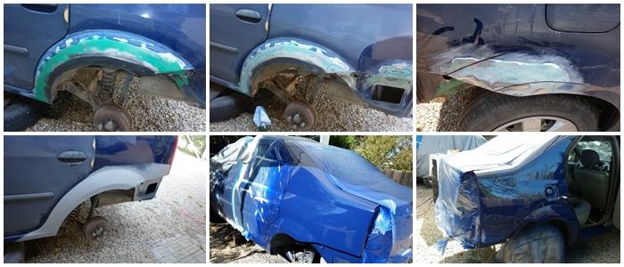 Dacia Logan 1. Lucrari de tinichigerie si vopsitorie- C4