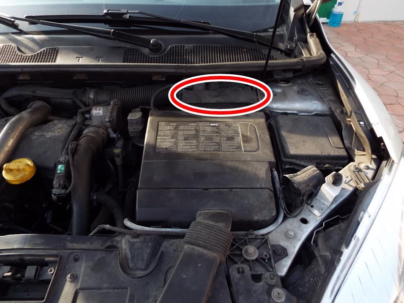 cum se schimba filtrul de aer la Renault Megane 3