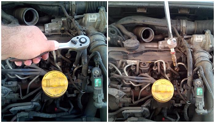 Cum se schimba bujiile incandescenta la Renault Megane III 1,5 Dci colaj